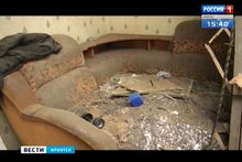 Пострадавшая квартира. Кадр из видео «Вести-Иркутск»