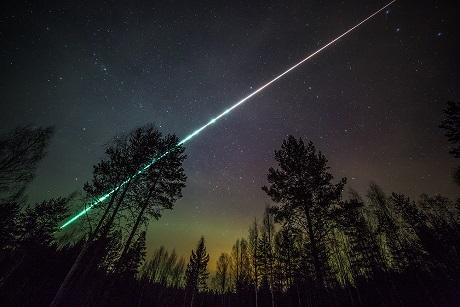 Яркий метеор вновь увидели над Приангарьем