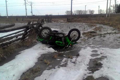 Мотоциклист скончался в трагедии вНижнеудинском районе