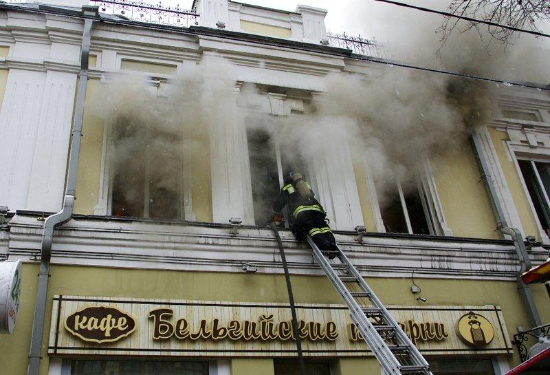 Вмногоэтажном здании кафе «Бельгийские пекарни» вИркутске пожар