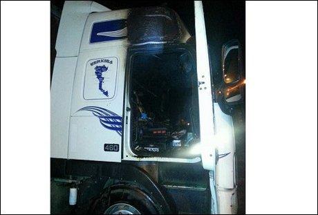 В сети появилось фото сгоревшего в Иркутске грузовика Volvo