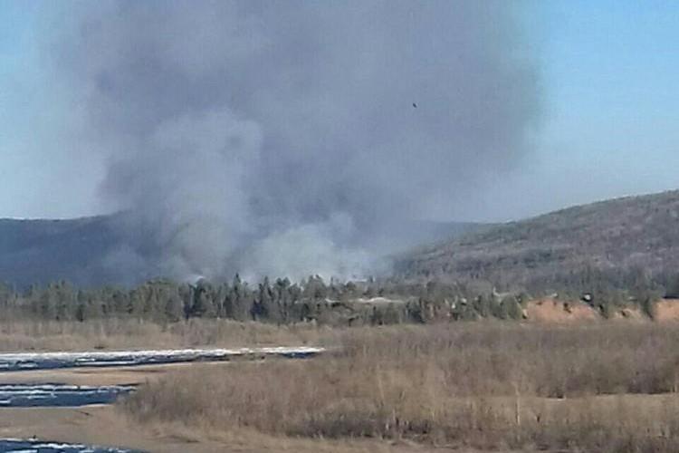 Задымление от пожара в Бубновке. Фото СУ СКР по Иркутской области