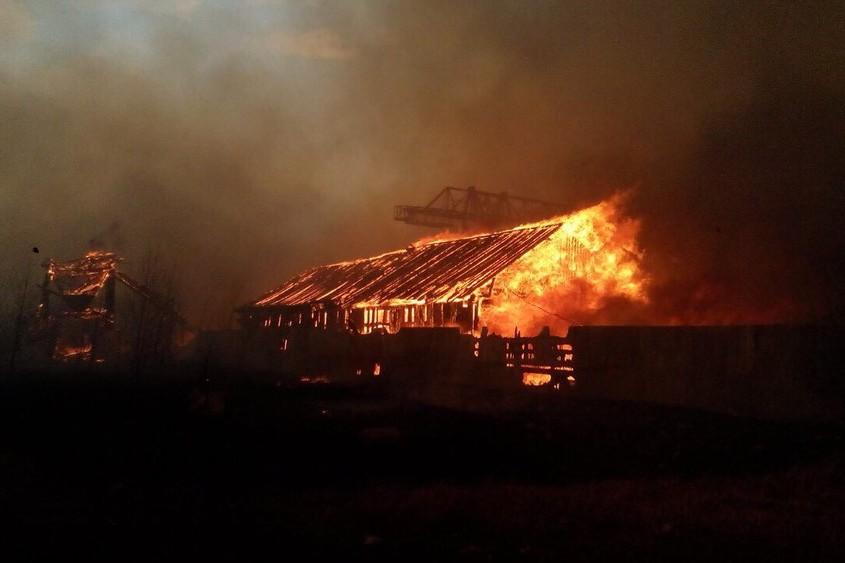 Пожар в садоводстве «Ромашка». Фото предоставлено пресс-службой ГУ МЧС России по Иркутской области