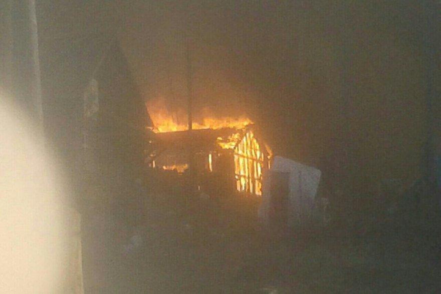 Пожар в Бубновке. Фото СУ СКР по Иркутской области