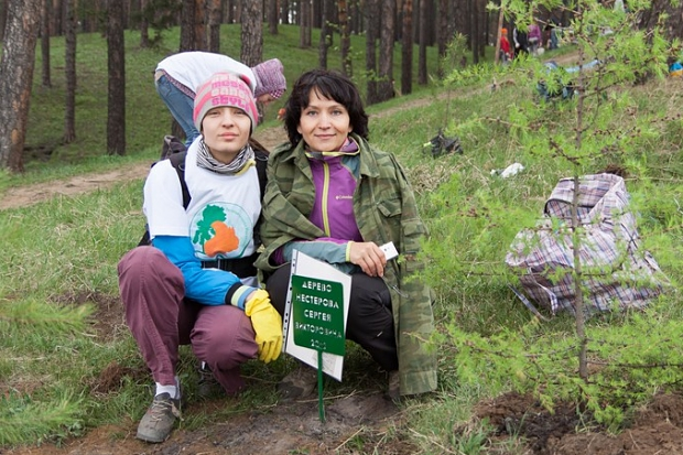 Участники акции «Подари планете жизнь». Автор фото — Илья Колмогорцев