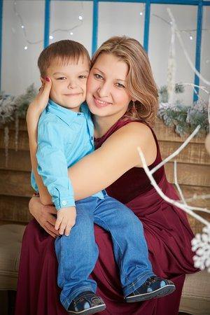 С младшим сыночком Семёном