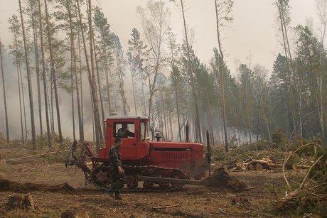 ВИркутской области продолжают гореть 12 тыс. гектаров леса