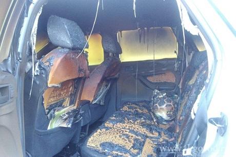 При возгорании автомобиля вБратске 7-мальчик получил ожоги лица