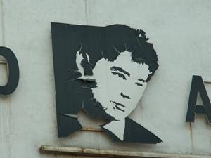 Портрет Александра Вампилова на здании театра. Фото IRK.ru