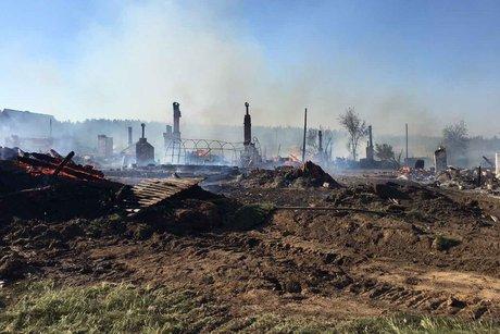 Шесть домов сгорели вИркутской области из-за разведённого для приготовления пищи костра