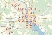 Скриншот карты платформы iGrajdanin.ru