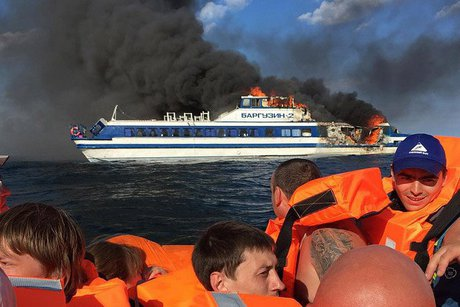 Капитана сгоревшего наБайкале теплохода суд освободил отуголовной ответственности