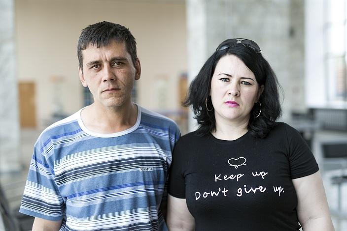 Марина Егорова с мужем Юрием. Фото Валерии Алтарёвой