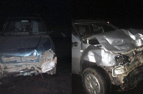 Натрассе «Вилюй» пенсионер наиномарке ночью врезался вполицейскую машину