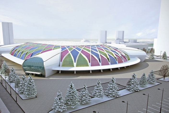 Эскиз ледовой арены в Красноярске. Изображение с сайта www.francis-journal.ru