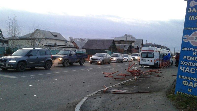 Реанимационная бригада скорой помощи угодила вДТП вАнгарске