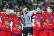 Хоккеисты сборной России. Автор фото - Вячеслав Айкин