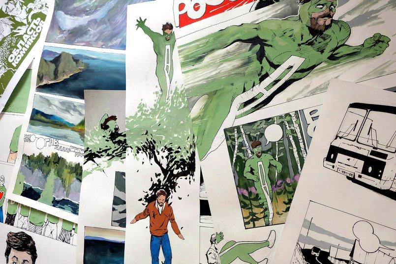 Эскизы комиксов про Ангара
