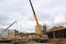 Строительство  школы №19. Фото пресс-службы администрации Иркутска