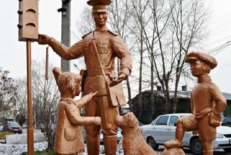 ВИркутской области появился монумент Дяде Стёпе— милиционеру