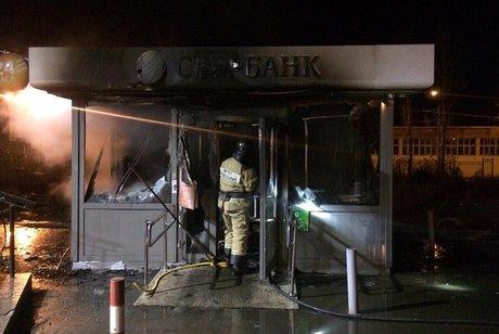 Ночью 8ноября вИркутске вЮбилейном сгорел банкомат