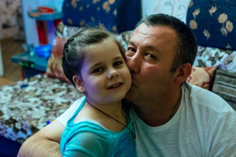 Папа с дочкой. Фото Зарины Весна