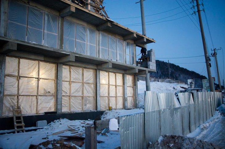 Строящееся здание по адресу: улица Горького, 29. Автор фото — Никита Пятков.