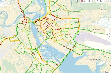 Скриншот с сервиса «Яндекс.Пробки»
