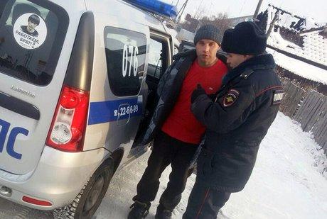 ВИркутской области полицией схвачен мужчина собрезом