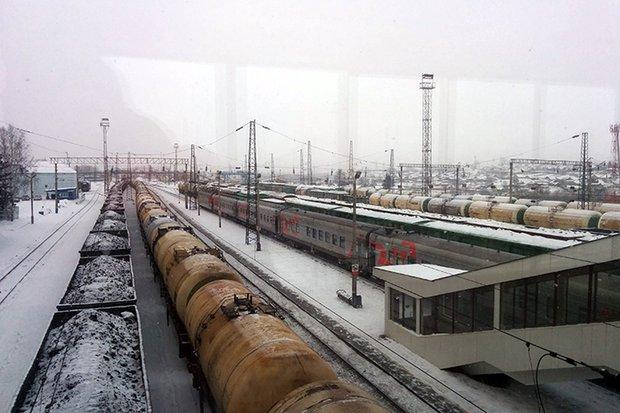 На вокзале в Ачинске