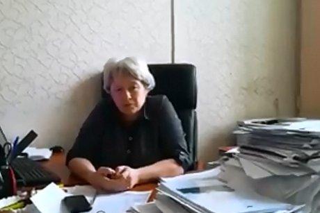 Елена Голенецкая. Скрин видео с Facebook