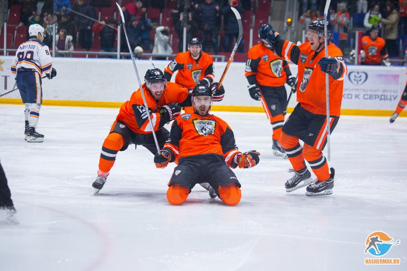 «Ермак» победил «Южный Урал» впятом матче плей-офф ВХЛ