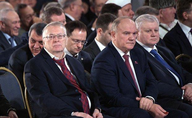 Владимир Жириновский, Геннадий Зюганов, Сергей Миронов