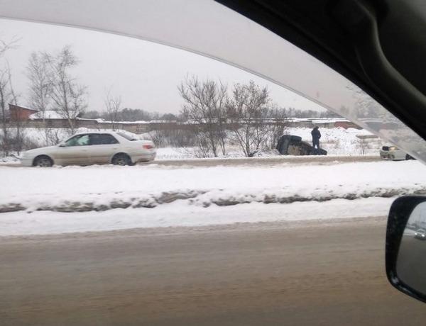 ДТП на объездной Ново-Ленино. Фото из группы ДТП38