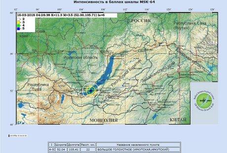Скрин с сайта Геофизической службы СО РАН