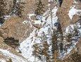 Идти на Скрипер зимой, тем более после снегопада, нужно подготовленным. Лыжные штаны или гамаши будут кстати. Тропу заметает и есть риск провалиться.