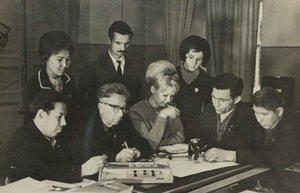 Группа сотрудников отраслевой лаборатории