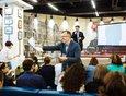 Основной площадкой фестиваля «Иркнига» стал книжный магазин в торгово-развлекательном комплексе «Модный Квартал».