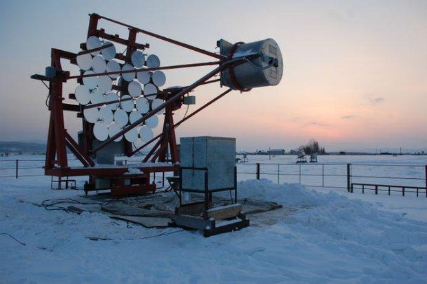 Черенковский телескоп на территории Тункинского астрофизического центра