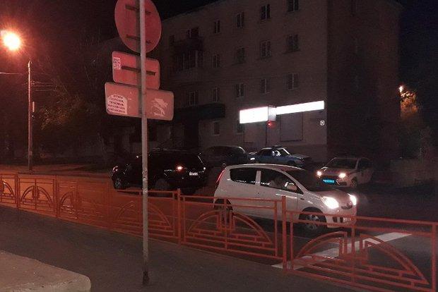 Авария с велосипедистом на Советской