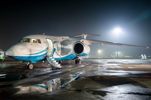 Самолет прибыл в Алма-Ату. Фото Kazakhstan Spotting Club Максим Морозов, Дамир Кагарманов