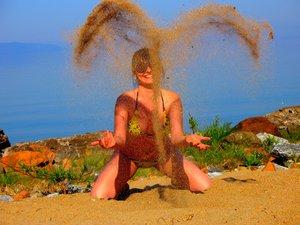 Байкальские сердечки из песка