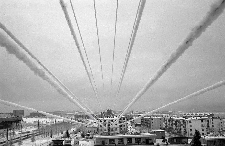 Академгородок. Иркутск, 28 декабря 1983 года  фото В.А.Корткоручко