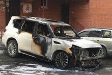Сгоревший автомобиль. Фото пресс-службы СУ СКР по Иркутской области