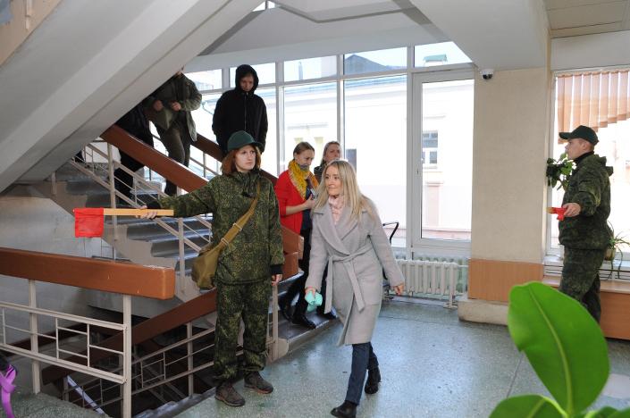 Бойцы студотряда «Барс» — участники всероссийской штабной тренировки по гражданской обороне