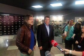 Эмир Кустурица и Денис Мацуев. Фото IRK.ru
