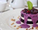 Изумительное блюдо которое тает во рту. Чудо-Тортик из гречневой панакоты и домашнего мармелада с жимолостью.