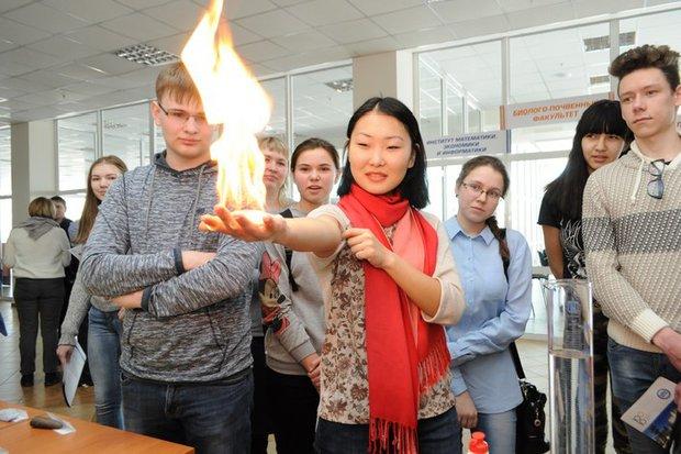 Демонстрационный химический опыт на дней открытых дверей ИГУ