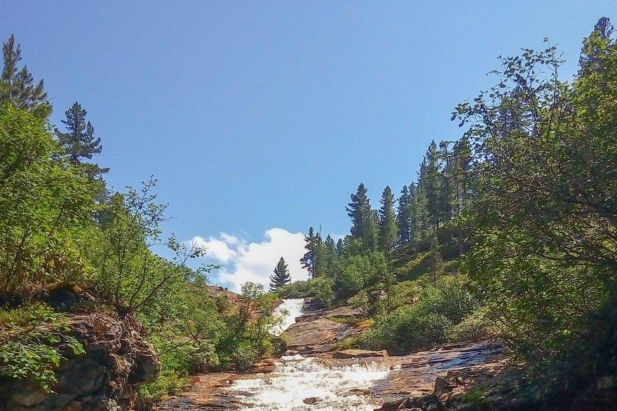 Водопад на реке Каменке