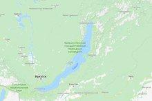 Байкал на Google maps